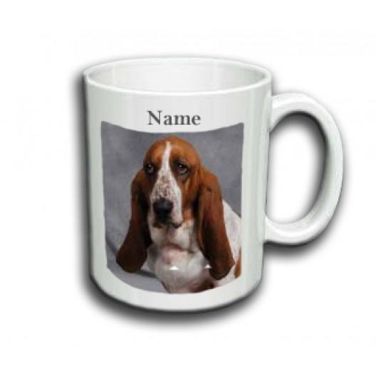 BasseT Hound Mug Personalised