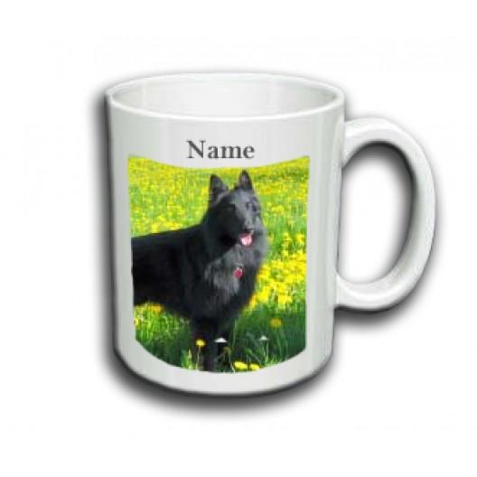 Belgian Sheepdog Mug Personalised