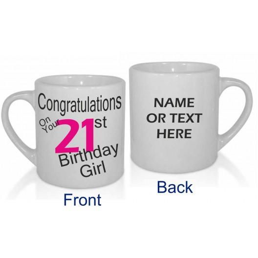 21ST BIRTHDAY GIRL PERSONALISED MUG