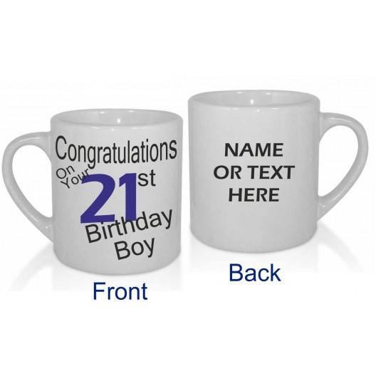 21ST BIRTHDAY BOY PERSONALISED MUG