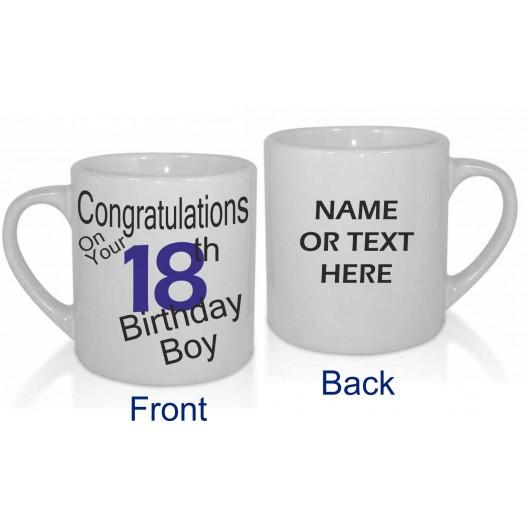 18TH BIRTHDAY BOY PERSONALISED MUG
