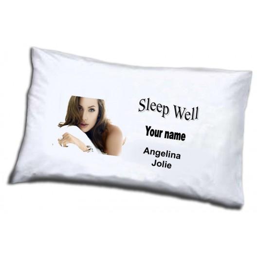 Angelina Jolie pillowcase